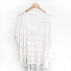 Free People | Oversized Tunic Top White Size Small